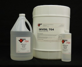 Invoil 702, 704, and 705 Silicone Diffusion Pump Fluids